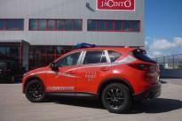 Mazda CX-5 combate incêndios