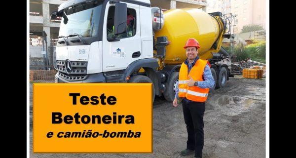 VÍDEO: Teste Betoneira e Camião bomba Betão